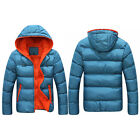 Men Winter Casual Hooded Thick Padded Jacket Slim Outcoat Outwear Coat Warm Size