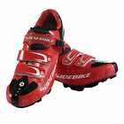 Mens Bicycle Racing Mountain Bike Sports SPD Lock Cycling Shoes Black Red 7.5-13