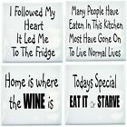 Kitchen Tile Transfer Humor Pack of 4 Fun Quotes Ceramic Tile Stickers Great Fun