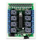 DC12V 8CH IR + RF Wireless Remote Control Relay Switch Learning Code Controller