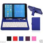 "Keyboard Leather Case Cover For 7"" Monster M7 M71BL Android Tablet MDHW"