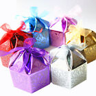 Octagon Foil Favour Box with Ribbon For Wedding Party Gift Sweet Colour 74B-5