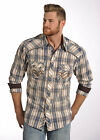 Rock & Roll Cowboy Satin Dobby Plaid with Double Stitching Western Snap Shirt