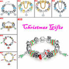Hot 7.87'' Fashion Christmas European Style Bracelets for Girfriend Xmas Gift
