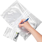 WRITE ON Grip Sealed Resealable Plastic White Panel Strip Poly Polythene Bags
