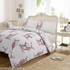 LUXURY STAG DUVET COVER WITH PILLOW CASE QUILT COVER BEDDING SET ALL SIZES