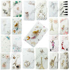 3D Bling Handmade Diamonds Wallet PU Leather Flip Case Cover For Samsung #5