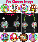 SUPER MARIO BROS Earrings You Choose Image & Style Rhinestone Yoshi Brothers