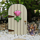 Fairy Door Mini ~ Flower ~Wooden ~ Fairy Garden Miniature ~ Handmade by Jennifer