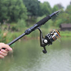 Portable Spinning Rock Fishing Rod with Reel Combo Telescopic Travel Fishing Kit