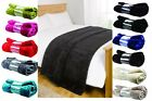 FAUX THROWS MINK BLANKET FLEECE BED LIVING SOFA SOFT LUXURY VARIOUS COLOURS NEW