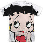 Betty Boop 1930's Animated Character Icon Pucker Up Adult 2-Sided Print T-Shirt $32.95 USD