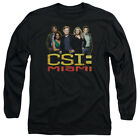 CSI Miami TV Show CBS The Cast In Black Adult Long Sleeve T-Shirt Tee