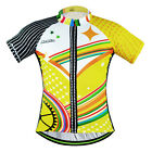 Men's Short Sleeve Cycling Jerseys Tops Sportwear Bike Bicycle Jackets Yellow