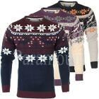 Soulstar Knitted Snowflake Jumper Pullover Top   Mens Size