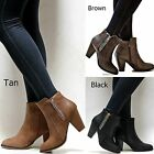 New Women FCm65 Black Tan Brown Western Ankle Booties Riding Boots
