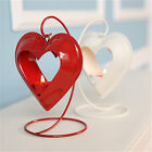 White/Red Love Hearted Pattern Candle Lantern Holder Wedding Decor Candlestick