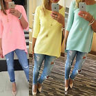 Hot Women/Lady/Girl Loose Pullover T Shirt Long Sleeve Cotton Tops Shirt Blouse