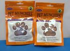 PET MUNCHIES CHICKEN AND LIVER TRAINING DOG FOOD TREATS  100% NATURAL FOOD  X 2