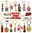 LONDON KEYRINGS - BRITISH SOUVENIR KEYRINGS - UNION JACK KEY CHAIN - UJ KEY RING
