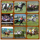 HORSE RACING - NOVELTY COASTERS - EASY CLEAN - NEW - GIFT IDEAS / XMAS / B-DAY