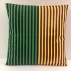 BRAND NEW TRENDY STRIPED SCATTER CUSHION COVERS GREEN BROWN BLACK YELLOW STRIPES