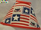 US PATRIOTIC AMERICAN FLAG LAMP SHADE (By LBC) SHIPS WITHIN 48 HOURS!!!