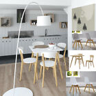 New White Scandinavian Retro Furniture Dining Table Chair Set Solid Oak Legs