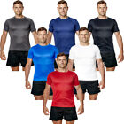 Mens Breathable T Shirt Wicking Cool Dry Running Gym Top Sports Performance
