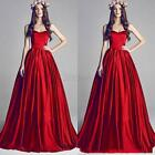 Red Women Ladies Bride Wedding Prom Evening Party Formal Gown Long Dress  C31