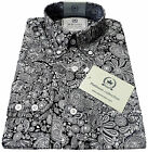 Relco Mens PLATINUM COLLECTION Paisley Print Shirt Long Sleeve Mod Vintage Retro