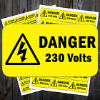 Electrical Voltage Stickers Danger Sign 50 x 25 mm - 110v /230v / 240v / 41 #aar