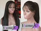 Light yaki 100% Brizilian remy human hair full lace wig with natural baby hair