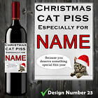 PERSONALISED FUNNY WINE BOTTLE LABEL BIRTHDAY CHRISTMAS GIFT ADULT CAT PISS
