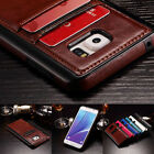 Ultra Thin Luxury Leather Wallet Card Back Case Cover For Smasung Galaxy Phone