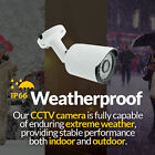 Bullet Camera - 3.6mm Lens 1080P HD CVI CCTV White Metal(Night Vision 20M) UK