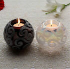 Black White Glass Ball Tealight Candle Holder Living Room Décor Wedding Décor