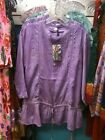 Sacred Threads Lilac 100% Cotton Top, m/l, NWT