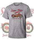 Somethings...Indian Bike Vintage Teeshirt Biker Motorcycle Retro Grey Shirt