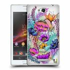 HEAD CASE DESIGNS WATERCOLOURED FLOWERS SOFT GEL CASE FOR SONY PHONES 3