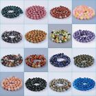 8mm round ball stone loose beads DIY jewelry making beads strand 16""