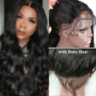 Indian Remy Human Hair Lace Front Wigs African Americans Long Body Wave Lace Wig