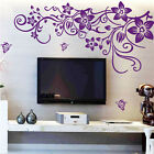 DIY Flower Living Room Wall Art Stickers TV Decoration Home