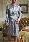 GIFTS! Mens Satin Silk Pajamas Kimono Robe Gown Loungewear US M L XL 2XL 3XL 4XL