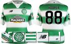 *15 / 16 - NEW BALANCE ; CELTIC HOME SHIRT SS + PATCHES / HOOPER 88 = SIZE*