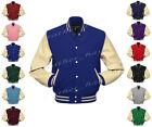Superb Faux Leather Sleeve Letterman College Varsity Wool Jackets #CS-CLRS-CRB