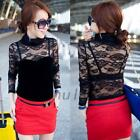 Women's Nightclub Sexy Lace Slim Long Sleeve Render Unlined Upper Garment