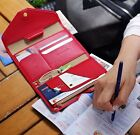 Korean Faux Leather Travel Organizer Wallet Passport Cover ID Credit Card Holder