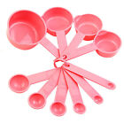 10Pcs Baking Cup Spoon Set Tablespoon Measuring Tool Pink Kitchen Cooking Divine