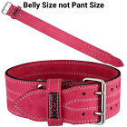 Womens Weight Lifting Belt Leather Gym Fitness Gear Ladies Training Pink New MRX
